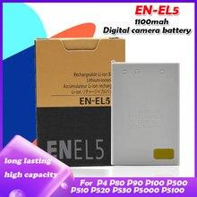 EN-EL5 ENEL5 EN EL5 3,7 V 1100mAh литий-ионная батарея для камеры Nikon Coolpix 3700 4200 5900 7900 P3 P4 P500 P510 P6000 P530 P520