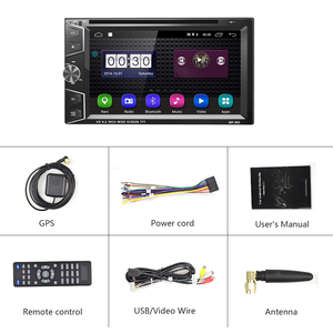 Image 5 - Podofo 2 Din Android 6.0 Car DVD Player GPS Bluetooth Touch Screen Car Stereo MP3 MP4 Car Multimedia Player Support Mirror Link
