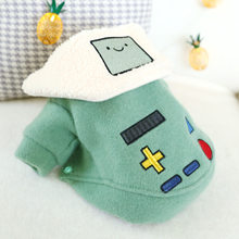Winter Dog Clothes Robot Lapel Plus Velvet Pets Outfits Warm Clothes for Small Dogs Cat Costumes Coat Jacket Puppy Sweater Dogs(China)