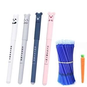 26Pcs/Lot Animals Erasable Pen 0.35mm Cute Panda Cat Pens Washable Handle Gel Pen 0.35 mm Refill Rods School Kawaii Stationery(China)