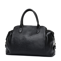 Luxury genuine leather large handbag women wild serpentine pattern tote bag female shoulder bags lady classic crossbody bag