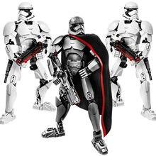 Guerra espacial buildable figura stormtrooper darth vader kylo ren chewbacca bobo jango fett geral grievoou figura de ação brinquedo para o miúdo