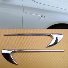 beler ABS 1 Pair Silver Side Air Vent Fender Fit for Benz A B C E CLA GLA GLC GLE GLS W204 W205 W212 W213 X156 X253