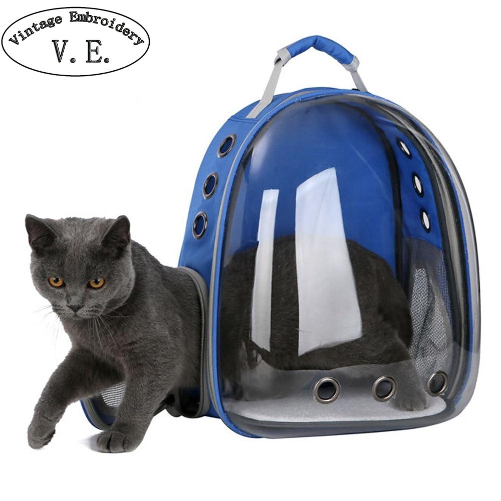 Sac pour chat Portable sac de transport pour chat animal de compagnie Capsule transparente respirant voyage perroquet chat chien oiseau sac à dos chaton Cages de transport