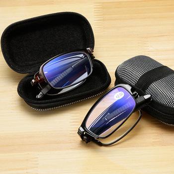 Design okulary do czytania mężczyźni kobiety składane okulary oprawki okularowe TR okulary + 1 0 + 1 5 + 2 0 + 2 5 + 3 0 + 3 5 + 4 0 tanie i dobre opinie ShangeWFJia Jasne NONE CN (pochodzenie) Fotochromowe 3 2cm Z poliwęglanu 5 5cm Z plastiku i tytanu women