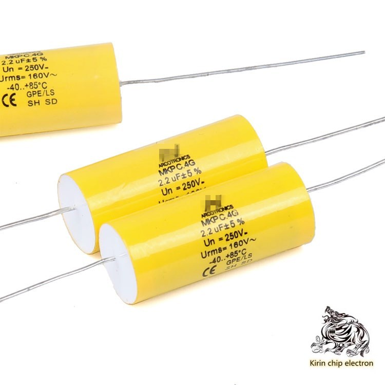 10PCS/LOT <font><b>2.2uf</b></font> <font><b>250V</b></font> MKP C.4G poleless axial film capacitor 225 pure copper pin 13 x 32mm image