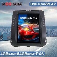 테슬라 화면 안드로이드 9 64GB 자동차 GPS 네비게이션 라디오 렉서스 GX470 도요타 랜드 크루저 프라도 120 2002 2009 헤드 유닛 오디오