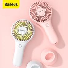 Baseus Mini USB Fan taşınabilir el Ventiladors şarj edilebilir dahili pil 1800mAH kullanışlı hava soğutma fanı açık ev için