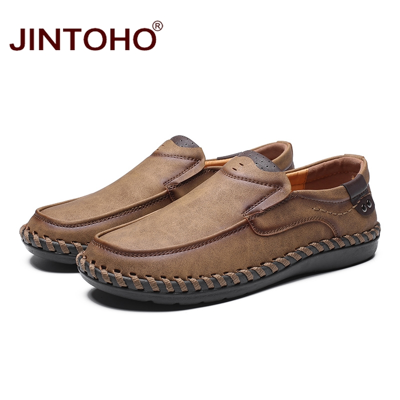 JINTOHO Fashion Brand Men Shoes Men Genuine Leather Shoes Casual Men Shoes Male Leather Shoes Slip On Men Loafers 3