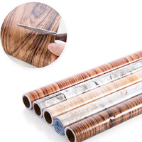 10m/ Roll Waterproof 3D Striped Wallpaper Vintage Imitation Wood Marble Wallpapers Living Room Backdrop Wall Decorative