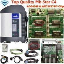 Высочайшее Качество mb star c4 SD Подключение c4 с новейшим программным обеспечением V2019.09 включает vediamo 05,01+ DTS диагностический сканер для автомобилей