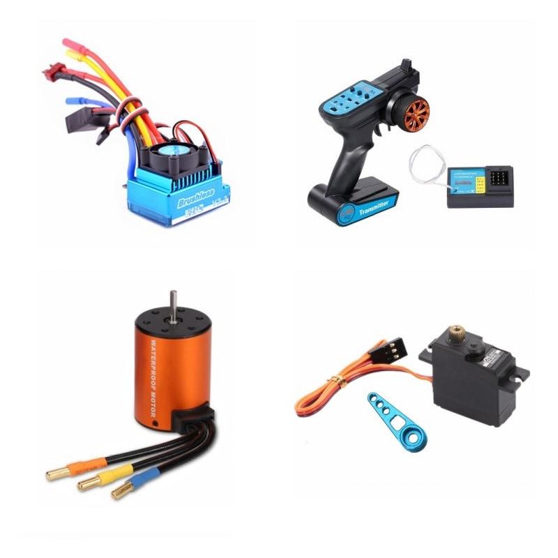 Mejora sin escobillas de Motor ESC receptor controlador remoto Servo para WLtoys 144001 A959-B A979-B piezas de repuesto de coche teledirigido Drone 22 en 1, accesorios prácticos para Hobby, simulador RC de fácil instalación, juguete libre con Cable USB para RealFlight G7