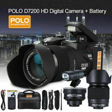 D7200 33MP Digitale Camera Dslr 0.5X Groothoek Lens + 24X Telelens + Led Licht Camera Profissional Digitale Camera