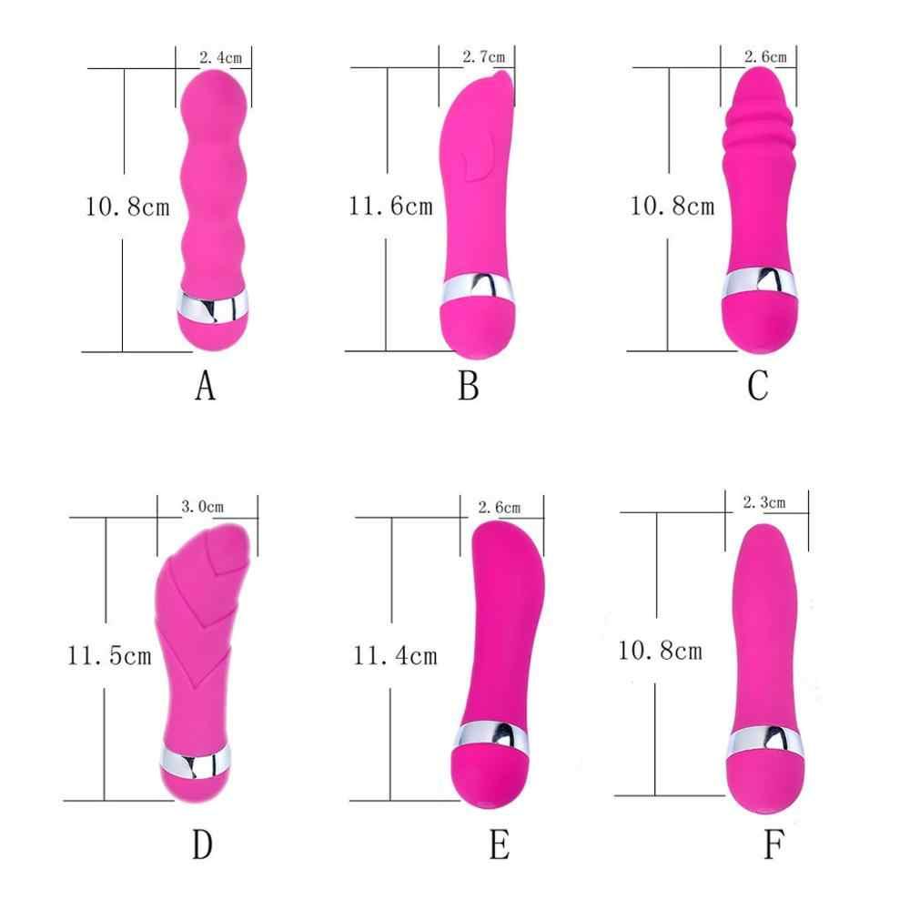 6 Macam Wanita Kecil G Spot Klitoris Anal Vagina Vibrator Erotis Produk Dewasa Mainan Seks untuk Wanita Intim Barang Mesin toko