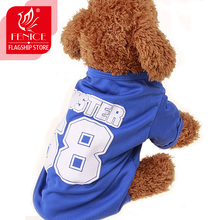 Fenice Small Dogs Costume Clothes For Little Overalls Pet Puppy Shirt Dog Cat Sports T-shirt