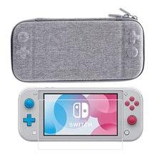 Bolsa de almacenaje de transporte 2 en 1 para Nintendo Switch Lite, Protector de pantalla de vidrio templado para Mini consola Nintendo Switch