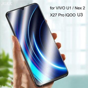 Перейти на Алиэкспресс и купить JGKK для VIVO IQOO U1 Nex 2 X27 Pro матовое закаленное стекло для VIVO IQOO U1 U3X Nex2 X27Pro U10 Y50 матовая защитная пленка для экрана