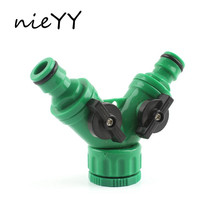 1/2 3/4 Y Type Quick Connector 3 Way Ball Valve Tap Faucet Adapter Water Gun Drip Tape Pipe Joints Garden Irrigation Fittings