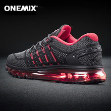 ONEMIX New Men's Air Running Shoes Breathable Massage Run Man Sneakers Outdoor Jogging Walking Shoes Comfortable Sport Shoes