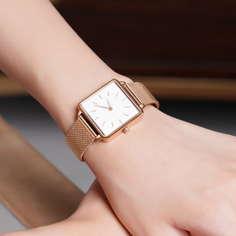 Luxury Designer Brand Women Casual Dress Quartz Watch Ladies Bracelet Watches Fashion Stainless Steel Uhr Clock 2019