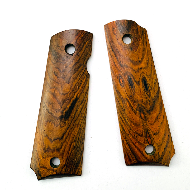 2Pieces 1911 Grips Wood Handle Grips Patch Custom Grips CNC Handle Grips