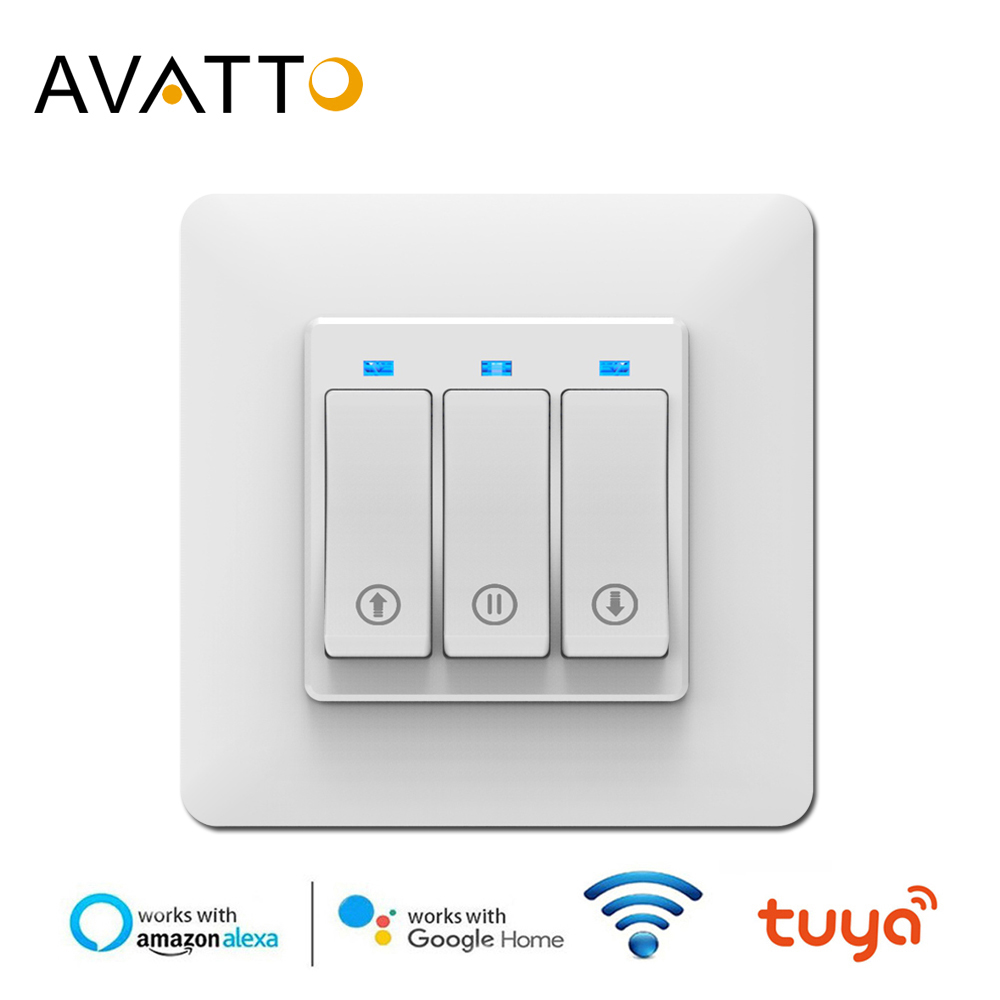 AVATTO WiFi Curtain Blind Switch For Roller Shutter Electric Motor, Work With Tuya APP Google Home Alexa Voice Remote Control