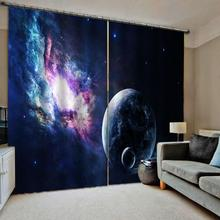 Starry sky curtains  Bedroom 3D Window Curtain Luxury living room decorate Cortina Blackout curtain