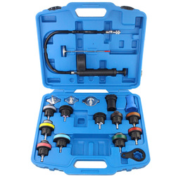 18 stücke Universal Kühler Druck Tester Tool Kit Kühlung System Testing Werkzeug Wasser Tank Leckage Detektor Nylon Material