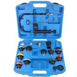 18pcs Universale Del Radiatore Tester di Pressione Tool Kit Strumento di Test del Sistema di Raffreddamento Serbatoio di Acqua Rivelatore di Dispersione di Materiale di Nylon