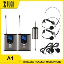 """Không Dây UHF Hệ Thống Tai Nghe Kèm Mic/Lavalier Cài Ve Áo Mic, dual Bodypack Máy Phát Và Một Pin Sạc Mini Receiver 1/4 """"Đầu Ra"""