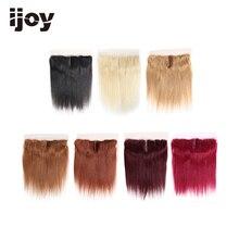 """Ludzkie włosy z 4x13 koronkowym czołem # 1B/4/27/30/33/99J/Burgundy 8 """" 20"""" M nierealne proste zamknięcie brazylijskie dopinki do włosów IJOY"""