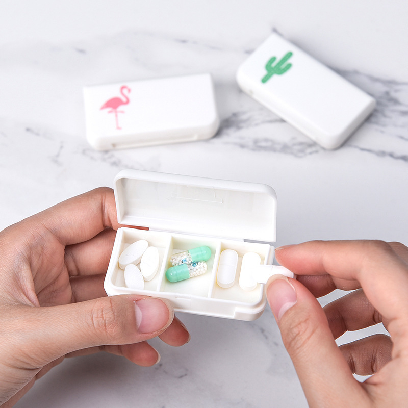 Portable Pill Box  Small Medical Box Storage Bin Organizer For Travel Home Organization Pill Tablet Organizer Case