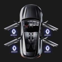 Luces LED para decoración de puertas, proyector con logotipo, lámpara para Renault Laguna Espace 4 5 Vel Satis Latitude Talisman Megane, accesorios para coche