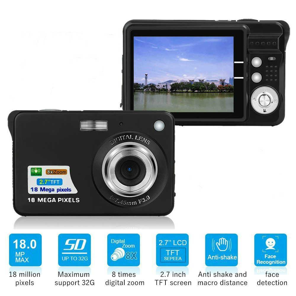 เด็กMiniกล้อง 18MP 2.7 นิ้วTFTหน้าจอ 8Xซูมดิจิตอลกล้องวิดีโอAnti-Shakeกล้องวิดีโอสำหรับเด็กที่ดีที่สุดของขวัญ