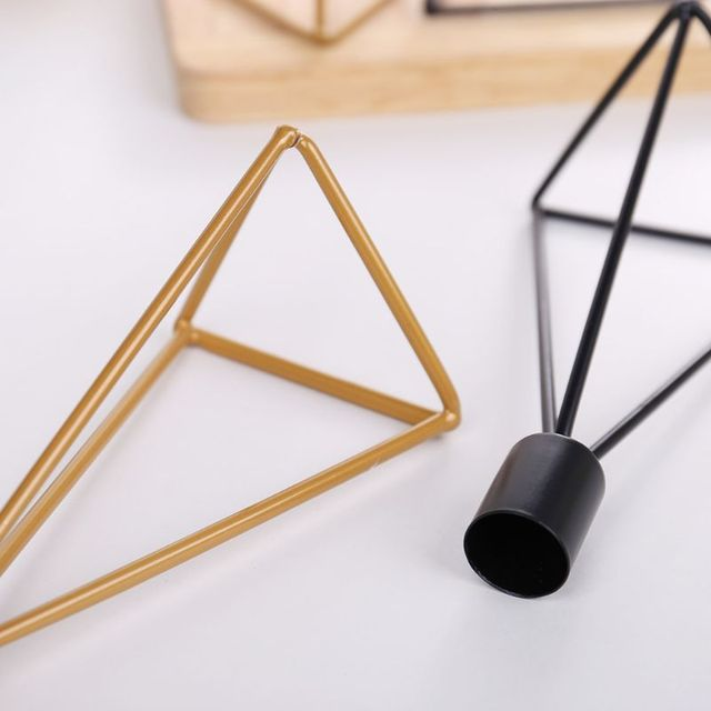 Geometric Candlestick Tealight Candle Holder Stand Wedding Party Decor 5
