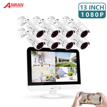 ANRAN 8CH CCTV System HD-TVI LCD DVR kit 8 1080p Home Security Waterproof Outdoor Night Vision Camera Video Surveillance Kit