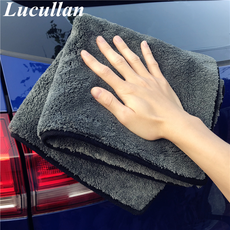 Lucullan 50X50CM 1300GSM Car Drying Cloth Super Thick Car Detailing Microfiber Towel Thick Car Washing Rag