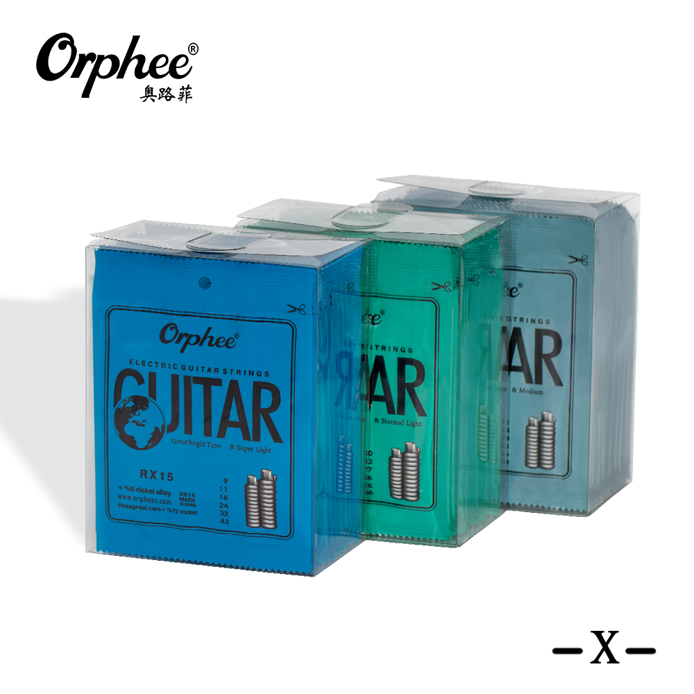Orphee Metal Electric Guitar Strings Set RX Series Practiced Hexagonal Carbon Steel 6 String for Guitar Parts Musical Instrument