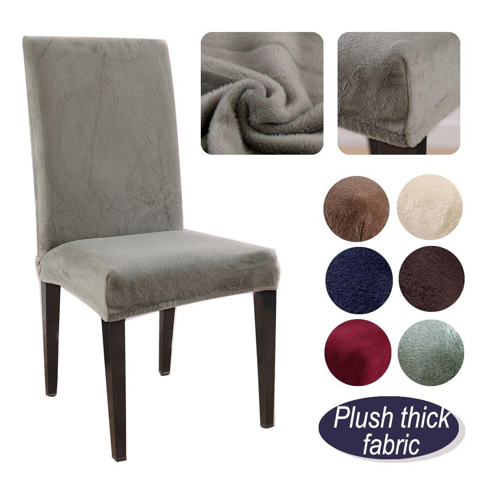 1/2/4 adet çıkarılabilir kalın peluş sandalye kılıfı streç elastik Slipcovers restoran düğün ziyafet otel sandalye kılıfı ing