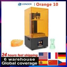 Mais longo laranja 10 lcd impressora 3d acessível sla matriz do corpo de metal impressora 3d led design rápido resfriamento fácil operar resina impressora
