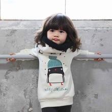 Рождественский хлопковый свитер с пингвином; топы для новорожденных; одежда для маленьких девочек; зимние рождественские вечерние свитера с героями мультфильмов; одежда для маленьких мальчиков