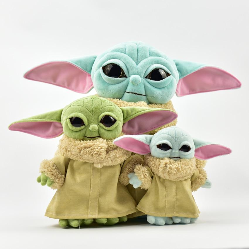 New 11-34cm Baby Yoda Plush Spot Toy Master Yoda Plush Pendants Soft Stuffed Animals Dolls Keychains Birthday Gift For Kid Child