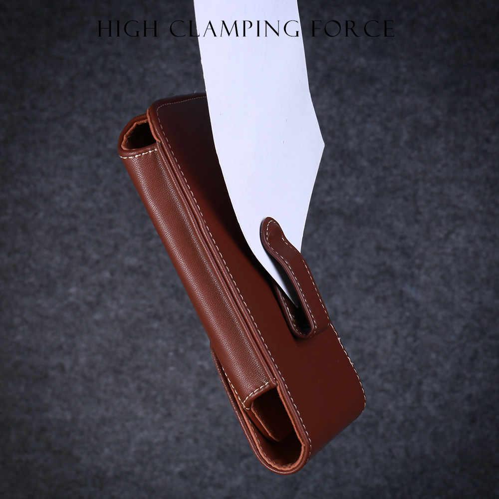 KISSCASE 5.5/4.7 'العالمي الحقيبة الجلدية الهاتف حقيبة لهاتف أي فون 7 8 6 6s 5 5s SE 4S الخصر أكياس الحافظة الرأسي حزام كليب غطاء