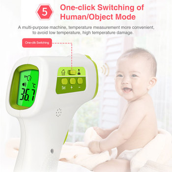 CE Infrared Forehead Baby Alarm Thermometer Gun Digital Blacklight Fever LCD Non-contacts Body Temperature Meter Handheld M20