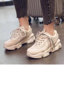 Chunky Sneakers Platform Casual-Shoes Beige Besket Femme Fashion Women's Woman Winter
