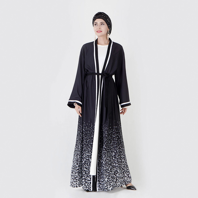 Abaya Turkish Kimono Cardigan Hijab Muslim Dress Women Abayas Caftan Marocain Kaftan Robe Femme Dubai Elbise Islamic Clothing
