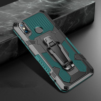 Custodia per telefono antiurto per Xiaomi Redmi Note 5 6 7 8 7A 6A 8A 5A Pro armatura robusta supporto magnetico in alluminio copertura anticaduta in metallo