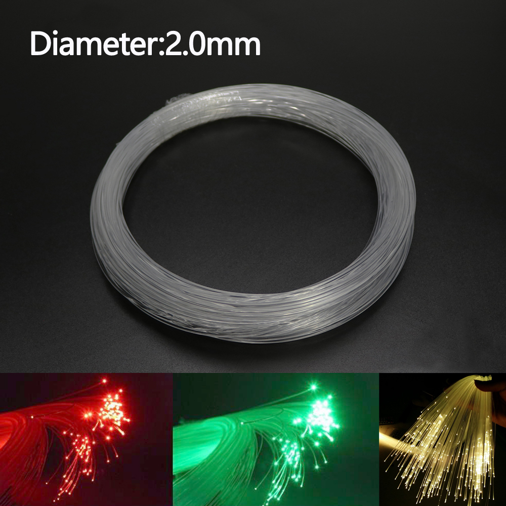 2.0mm 50Meter/Roll Plastic End Glow Fiber Optic Cable For Star Sky Ceiling LED Light Plastic Fiber Optic Cable End Glow