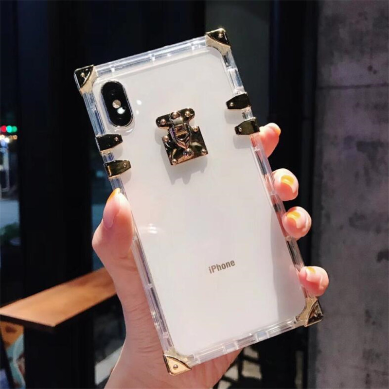 Hda241c189925467eb681d2ed9f567b3eC - Luxury Square Clear TPU Case For iPhone 11 Pro Max Soft Silicone Bling Phone Cover For iPhone X XS Max XR For iPhone 6 7 8 Plus
