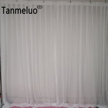 Chiffon wedding backdrop decoration 3m transparent curtain stage background drapery for event and birthday party p9 2m 4m pc mode controller led video curtain for wedding backdrop customized fireproof light curtain dj stage background